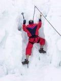 Iceberg climber. Climber climbing the iceberg Royalty Free Stock Photo