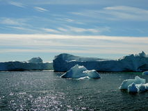 Iceberg. Coast of Greenland with icebergs Royalty Free Stock Image