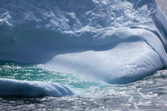 Iceberg. Coastal iceberg close-up with wave Royalty Free Stock Images