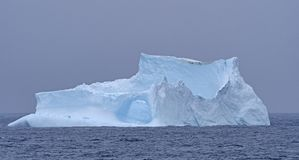 Iceberg Coming out of the Fog Stock Photos