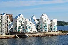 Iceberg complexo residencial do ` de Isbjerget do ` em Aarhus, Dinamarca Fotos de Stock Royalty Free