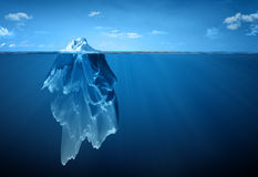 Iceberg. Concept image with an iceberg Royalty Free Stock Photo