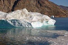 Iceberg d'Arctique du Groenland Image libre de droits