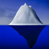 Iceberg. 3d rendering of an iceberb Stock Photos