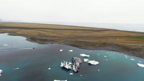 ICEBERG DA GELEIRA DA VISTA AÉREA vídeos de arquivo