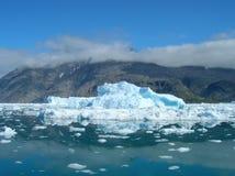 Iceberg de derretimento na costa de Greenland Fotografia de Stock