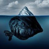Iceberg dei rifiuti illustrazione di stock