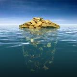 Iceberg del dinero Imágenes de archivo libres de regalías