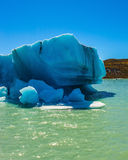 The iceberg departures from coastal glacier Stock Image