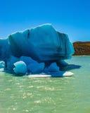 The iceberg departures from coastal glacier Stock Image