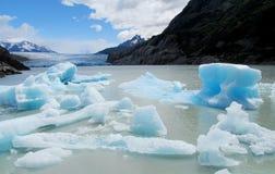 Iceberg di ghiaccio che galleggia in acqua fotografia stock