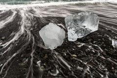 Iceberg Diamond beach Iceland Stock Images
