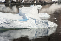 Iceberg Drifting In The Ocean Royalty Free Stock Image