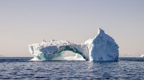 Iceberg drifting in the ocean, Greenland. Iceberg drifting the ocean, Greenland stock image