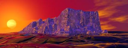 Iceberg e sol Imagem de Stock Royalty Free