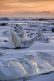 Iceberg em uma praia Fotografia de Stock