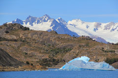 Iceberg en EL Calafate Photos libres de droits