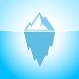 Iceberg en icono del vector del agua azul Imagenes de archivo