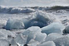 Iceberg favoloso in Islanda Fotografia Stock Libera da Diritti