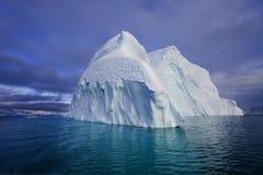 Iceberg - fjord de Franz Joseph - le Groenland Image libre de droits