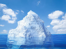 Iceberg floating Stock Photography