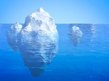 Iceberg floating Royalty Free Stock Photo