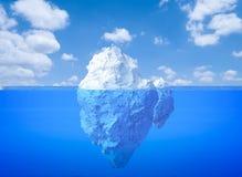 Iceberg floating. 3d rendering iceberg floating on blue ocean stock photo