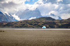 Iceberg floating on Grey Lake of Torres del Paine National Park - Patagonia, Chile. Iceberg floating on Grey Lake of Torres del Paine National Park in Patagonia Royalty Free Stock Images