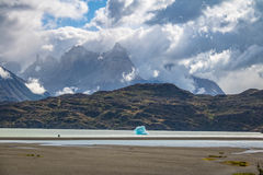 Iceberg floating on Grey Lake of Torres del Paine National Park - Patagonia, Chile Royalty Free Stock Photos