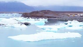 Iceberg floating at Jokulsarlon stock footage