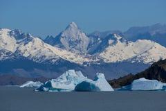 Iceberg floating on the Lake Argentino Royalty Free Stock Photo