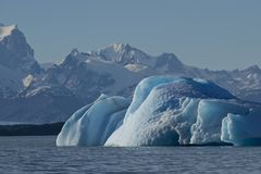 Iceberg floating on the Lake Argentino Royalty Free Stock Image