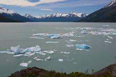 Iceberg floating on the Lake Argentino Royalty Free Stock Photography