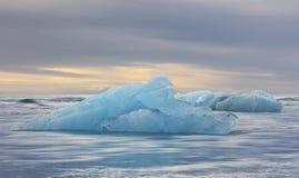 Iceberg floating in the Ocean, Iceland stock photo