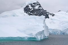 Iceberg floating offshore, Stock Images