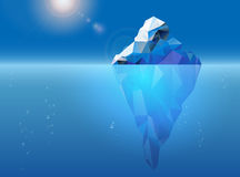Iceberg floating on the sea surface Royalty Free Stock Images