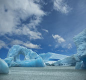 Iceberg floating in the water. Stock Image