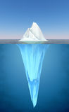 Iceberg floating in the water Royalty Free Stock Photography