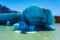 Iceberg floats away from the glacier Stock Photo