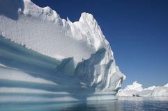 Iceberg flows in Antarctic waters Royalty Free Stock Photo