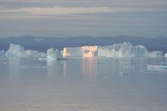 Iceberg fora de Greenland Fotos de Stock