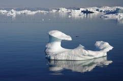 Iceberg formé par champignon de couche, Groenland Photographie stock