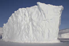 Iceberg frozen into the ocean near the Antarctic Royalty Free Stock Images