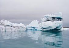 Iceberg. Geleira em Islândia Imagem de Stock Royalty Free