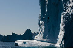 Icebergs - Scoresbysund Fjord - Greenland Royalty Free Stock Photography