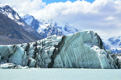 Iceberg gigante da geleira de Tasman Fotografia de Stock