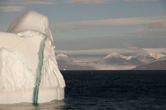 Iceberg gigante - som de Scoresby - Gronelândia Imagem de Stock Royalty Free