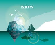 Iceberg glacier  design Royalty Free Stock Photo