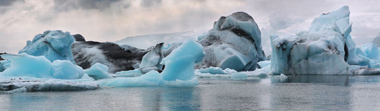 Iceberg in the glacier lagoon. Iceland. Blue iceberg in the glacier lagoon Stock Photo