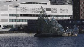 Iceberg Glass Oslo stock video footage
